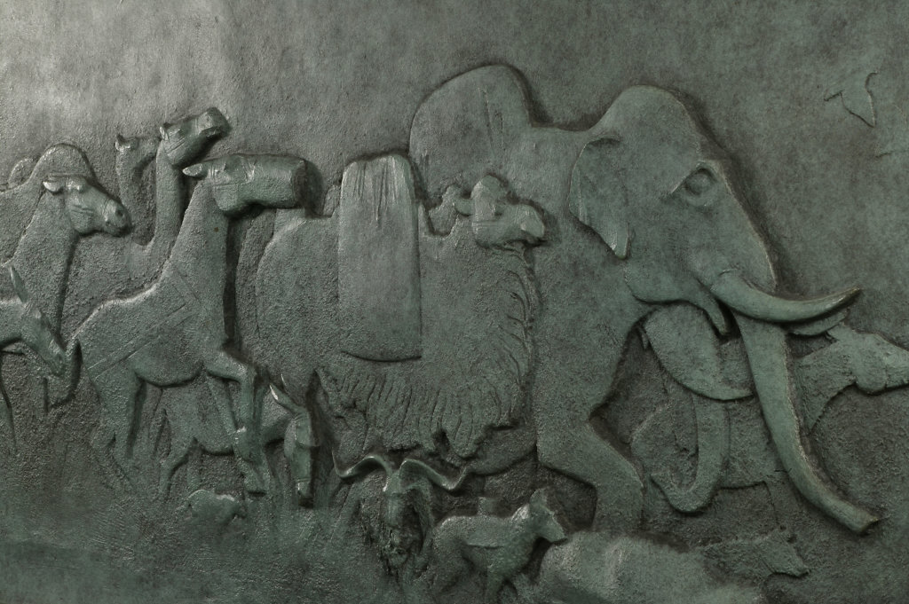 Detail of model for Animals in War Memorial